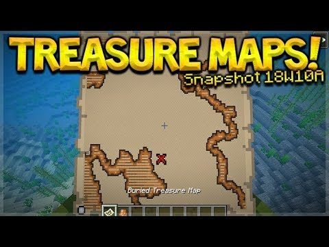 Aquatic Update – Minecraft 1.13 NEW Treasure Maps & Tropical Fish (Snapshot 18W10A)