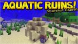 Aquatic Update – Minecraft 1.13 NEW Under-Water Ruins Added Ocean Update (Snapshot 18W09A)