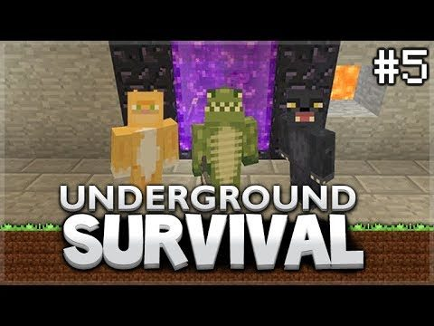 Minecraft Xbox – Underground Survival –  The Storage Rooms! Episode 5