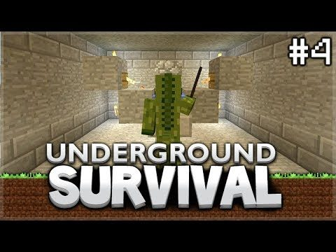 Minecraft Xbox – Underground Survival –  AFK Fish Farm! Episode 4