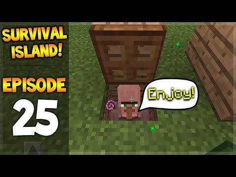 OMG! THE LUCKY VILLAGER!! Minecraft Survival Island – Let's Play 25