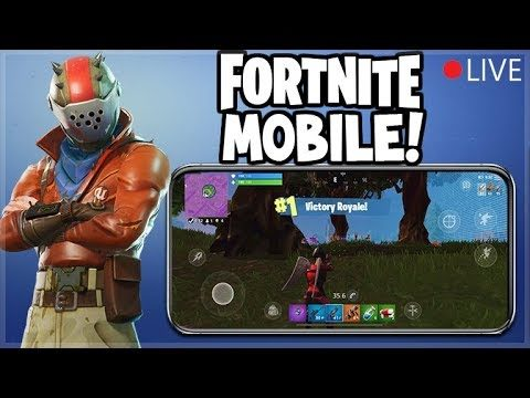 PLAYING Fortnite: Battle Royale ON MY iPHONE! (Fortnite Mobile)
