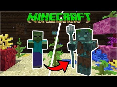SHIPWRECK HUNT!! – Minecraft 1.13 Aquatic Update Shipwrecks & Water Zombie (Snapshot 18W11A)