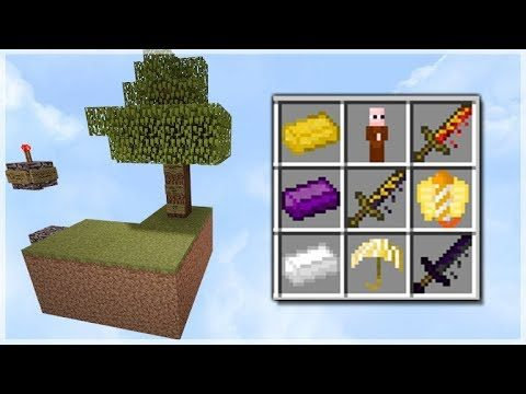 THE BEST SKYBLOCK MAP EVER!! Custom Weapons, Items & Mobs! Skyblock Survival Map