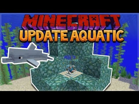 AQUATIC UPDATE – MINECRAFT 1.13 SURVIVAL ISLAND! Pet Dolphins!