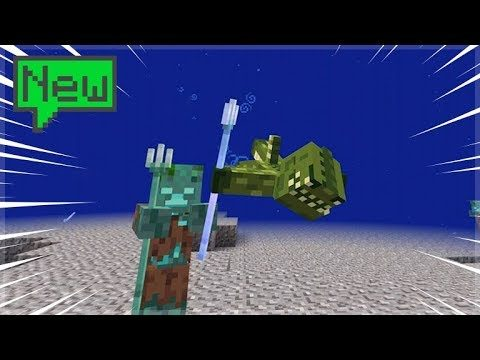 AQUATIC UPDATE THE TRIDENT HUNT!! Minecraft Survival Island (34)