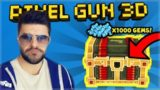 [LIVE] Pixel Gun 3D | CRAZY SPENDING 1,000+ GEMS ON LUCKY CHESTS!!