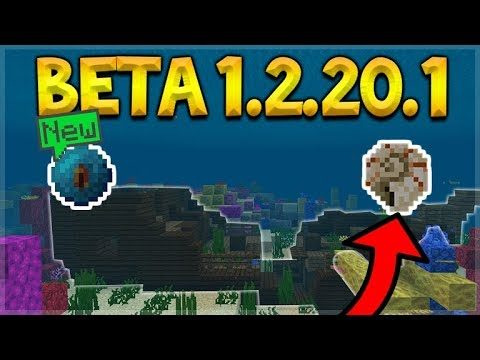 MCPE BETA 1.2.20.1 – NEW SHIPWRECKS, UNDERWATER RUINS & ITEMS! (Aquatic Update)
