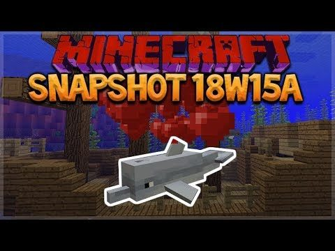 Minecraft 1.13: Snapshot 18w15a – NEW Dolphin MOB! Conduit Block & Heart Of The Sea