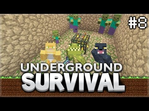 Minecraft Xbox – Underground Survival – Curing The Infected! Episode 8