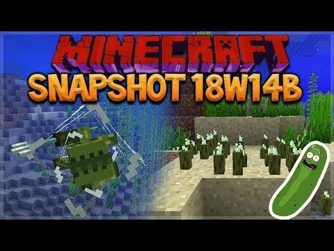 NEW SEA PICKLES! – Minecraft Aquatic Update Sea Pickles Added (Snapshot 18w14b)