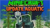 UPDATE AQUATIC! – Minecraft 1.13 Aquatic Update Shipwrecks & Trident Hunt!