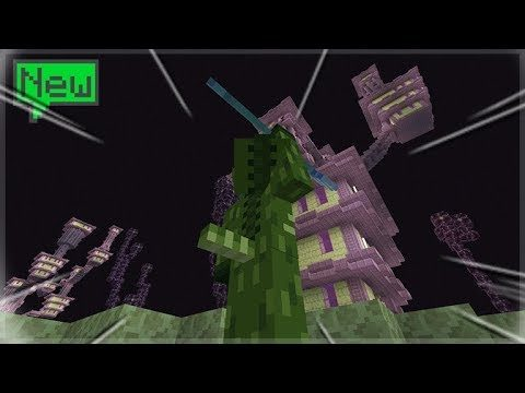 AQUATIC UPDATE! TAKING OVER THE END CITY! Minecraft Survival Island (41)