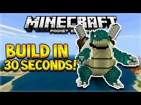 BUILD MCPE HOUSES IN SECONDS!! Minecraft PE Aquatic Update – Build Statues, Houses In 30 Seconds!