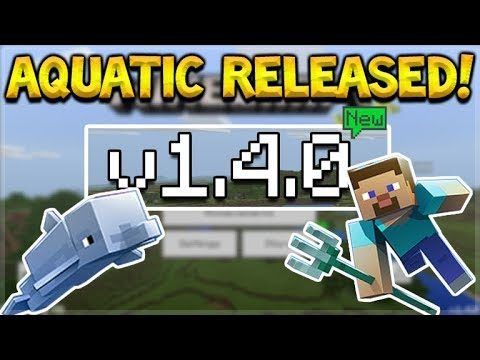 NEW MCPE 1.4.0 UPDATE! Minecraft Pocket Edition – AQUATIC UPDATE Released!! Download Now!