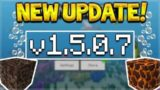NEW MCPE 1.5.0.7 UPDATE! Minecraft Pocket Edition – 2 NEW Bubble Columns Added!