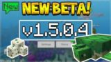 NEW MCPE 15.0.4 BETA! Minecraft Pocket Edition – NEW Turtles Added & Bubble Columns!