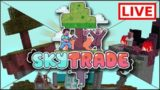 🔴LIVE BUILDING MY HOUSE!! Skytrade Minecraft SKYBLOCK Survival (10)