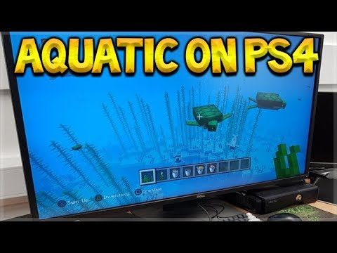 Minecraft Aquatic Update PS4 EARLY Preview! (PS4, 360, PS Vita, WiiU)