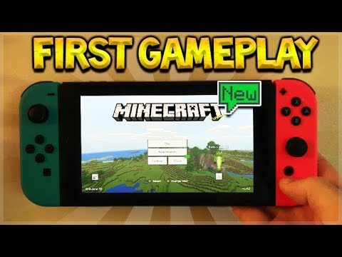 NEW Aquatic Update! Minecraft on NINTENDO SWITCH Gameplay!