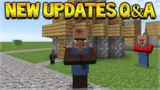 NEW Minecraft Updates – NEW Villagers Coming & 3 NEW Updates Q&A