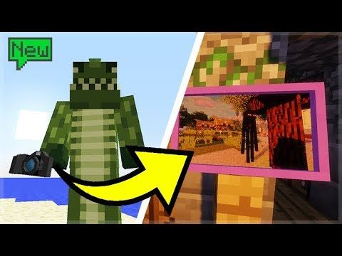 WORKING CAMERA IN MINECRAFT! TAKE PICTURES TO PUT ON YOUR WALL!