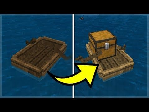 WORKING CHESTS IN BOATS FOR MINECRAFT POCKET EDITION 5 NEW FEATURES! (Pocket Edition Addon)