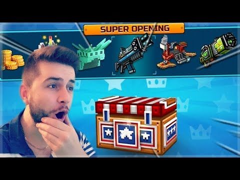 EPIC BATTLE ROYALE SUPER CHEST CRATE OPENING! DID WE GET LUCKY?? | Pixel Gun 3D