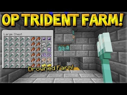 Minecraft: How To Build the Most OP Drowned Trident Farm, Nautilus Shell, Gold (PE, Xbox, Switch PC)