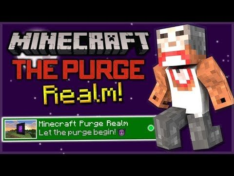 Minecraft Pocket Edition/Bedrock: THE PURGE REALM! PVP, Stealing, Griefing! (JOIN NOW!)