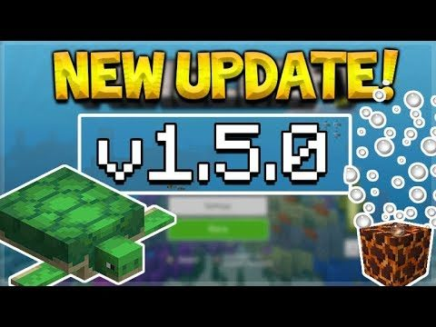 NEW MCPE 1.5.0 UPDATE! Minecraft Pocket Edition – Aquatic Phase 2 Released ALL Versions!