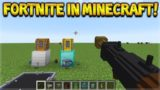 HOW TO PLAY FORTNITE IN MINECRAFT!! Weapons, Grenades, Gliders, Launch Pads!
