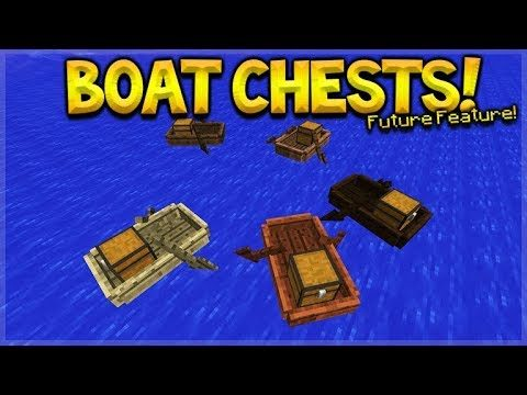 HOW TO PUT A MINECRAFT CHEST IN A BOAT! Minecraft Future Update Features (Mod Preview)
