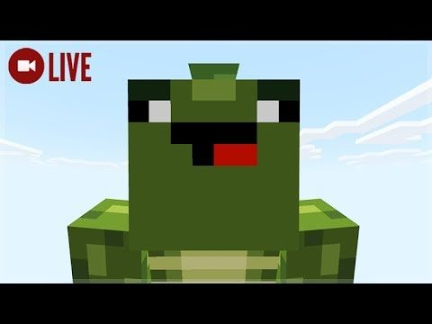 [LIVE] STATUE BUILDING & WITHER-BOSS PREP! Skytrade Minecraft SKYBLOCK Survival (28)