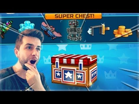 MEGA BATTLE ROYALE SUPER CHEST CRATE OPENING! DID WE GET LUCKY!?!?! | Pixel Gun 3D