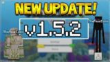 NEW MCPE 1.5.2 UPDATE! Minecraft Pocket Edition – 4D Skins NOT Removed & Crashes Fixed!