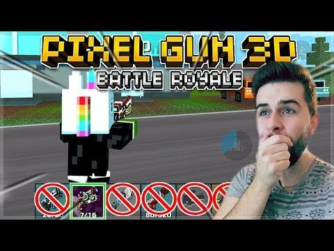 OMG! I WAS CHEATED OUT OF A VICTORY!! BACK UP WEAPONS ONLY CHALLENGE BATTLE ROYALE | Pixel Gun 3D