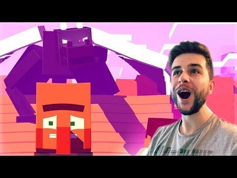 REACTING TO FUNNY MINECRAFT ALEX & STEVE HOW NOT TO FIGHT THE DRAGON MOVIE Minecraft Animations