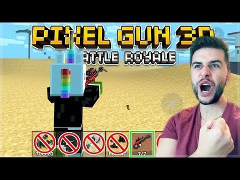 THE CRAZIEST WIN EVER!! SNIPERS ONLY CHALLENGE BATTLE ROYALE | Pixel Gun 3D