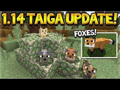 Minecraft 1.14 Taiga Biome Update – NEW Berries, Campfires & Foxes Mob!