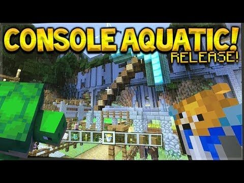 Minecraft Console Edition – NEW AQUATIC UPDATE RELEASE! (360, Ps3, Ps4, Vita, Wii U)