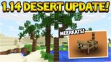 NEW MINECRAFT 1.14 DESERT BIOME UPDATE – NEW PALM TREES & MEERKATS!
