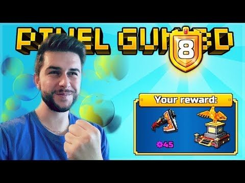 THE CHALLENGE HUNTER! UNLOCKING THE BATTLE PASS PERKS! | Pixel Gun 3D