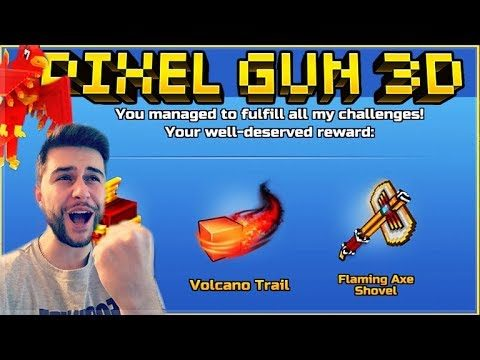 WE UNLOCKED THE SUPER RARE FLAMING PHOENIX SET! BATTLE ROYALE CHALLENGE | Pixel Gun 3D