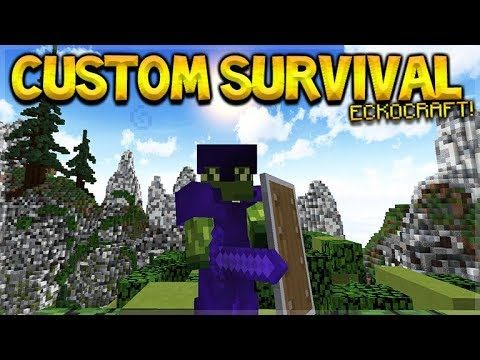 JOIN ECKOCRAFT CUSTOM SURVIVAL! – MINECRAFT PC SERVER 1.13.1(eckocraft.mcph.co)