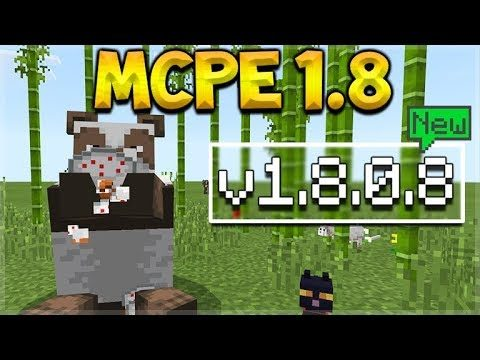 MCPE 1.8 BETA PANDAS! – Minecraft Pocket Edition – NEW Pandas, Bamboo, Cats & More!