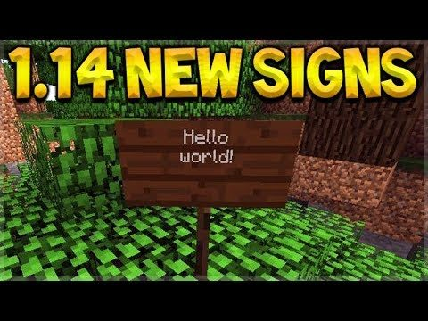 Minecraft 1.14 Update – NEW Snapshot Release & MORE Wooden Signs!