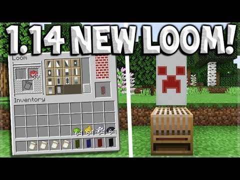 Minecraft 1.14 Update – NEW Village & Pillage LOOM Crafting Block How To Make Banners In Seconds
