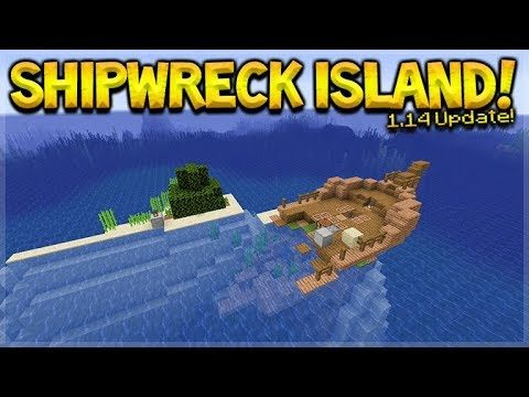 MINECRAFT 1.14 – SHIPWRECK SURVIVAL ISLAND! (Dinnerbone Seed)