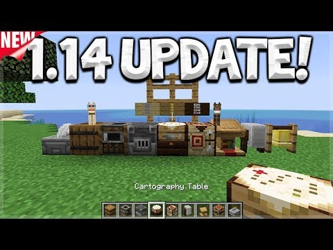 Minecraft 1 14 Update New Village Pillage Update New Crafting Tables Eckoxsolider